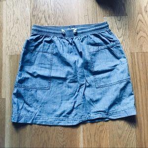 Crewcuts girls chambray skirt size 14
